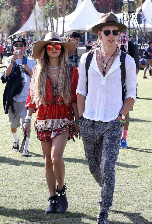 Vanessa Hudgens and boyfriend Austin Butler are Coachella fashion royalty on Day Three