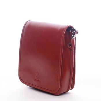#ItalY_Harper Luxusní červená kožená taška přes rameno ItalY Harper