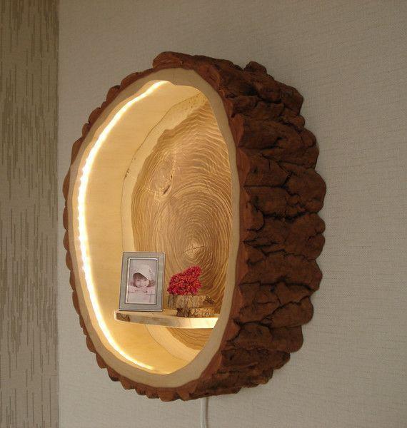 Baumstammlampe Holzlampe von Holzdesign Bohse bei DaWanda.com Baumstammlampe