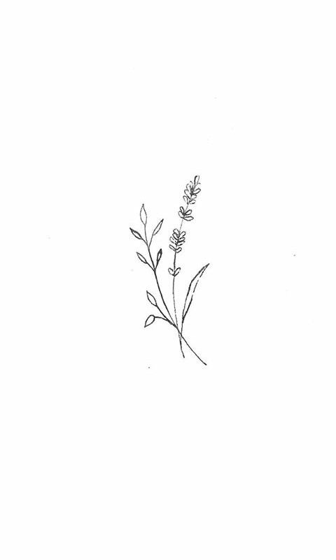 Minimalist Simple Flower Circle Tattoo: Simplistic Wildflower Sketch