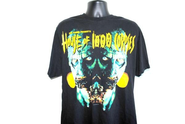 2002 House Of 1000 Corpses Vintage Everybody Dies Rob Zombie Horror Movie Promo T-Shirt