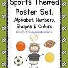 Sports Themed Classroom Poster Bundle. Your little athletes will love this classroom decor pack featuring baseball, basketball, football, soccer and tennis ~ includes all the resource posters you need to set up your class!