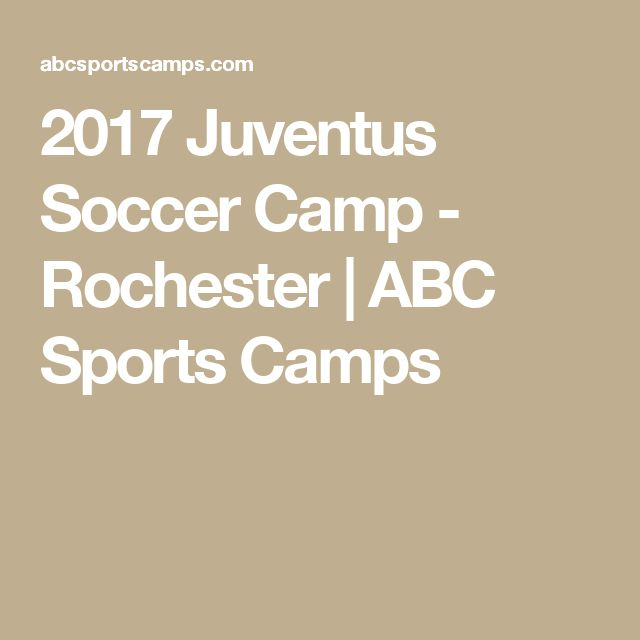 2017 Juventus Soccer Camp - Rochester | ABC Sports Camps