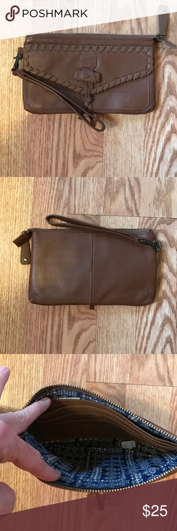 Lucky 🍀 Brand wallet Lucky 🍀 Brand wallet the front has a snap pocket and the inside has six slot for credit cards and ID. And has two separate compartments inside the wallet. In excellent condition. Never used. Lucky Brand Bags Wallets