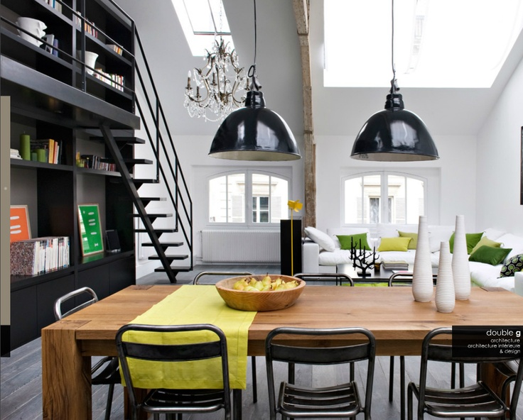 Loft apartment / kitchen dining