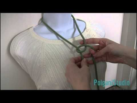 6 ways to tie and wear a lariat (long necklace) TUTORIAL - How to tie a bead crochet rope. - YouTube