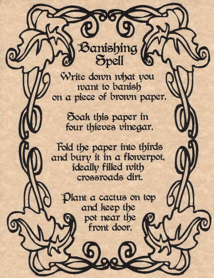 Banishing Spell, Book of Shadows Page, BOS Pages, Wicca, Witchcraft, Magic Spell picclick.com