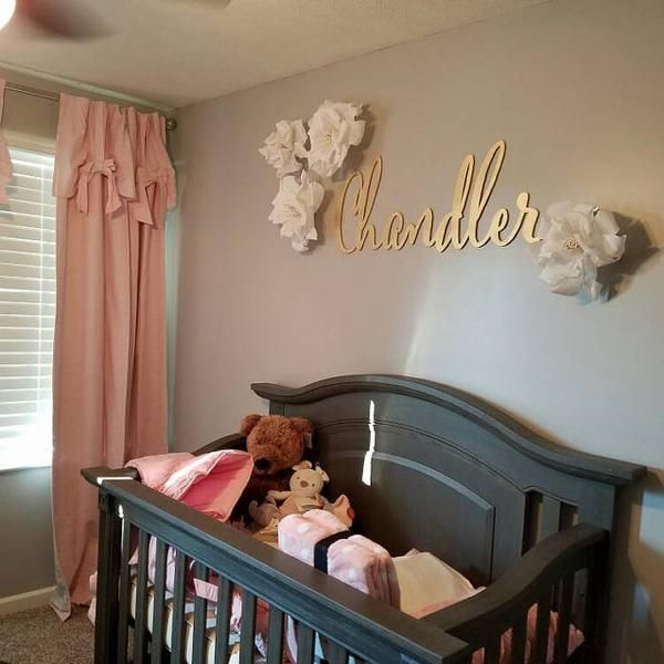Large Laser Cut Calligraphy Name Sign for Kid's Wall or Nursery