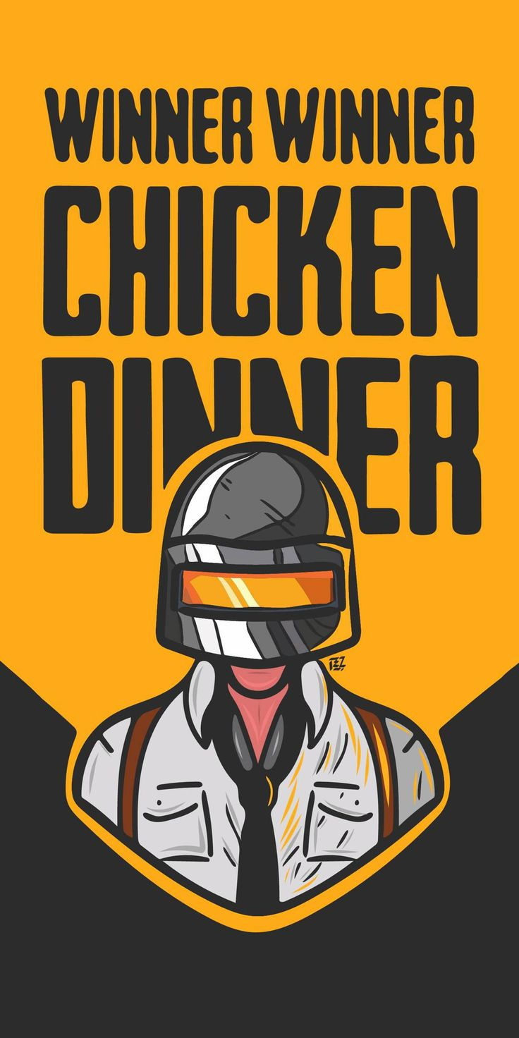 PUBG Wallpaper iPhone Chicken Dinner Logo keren, Kartun