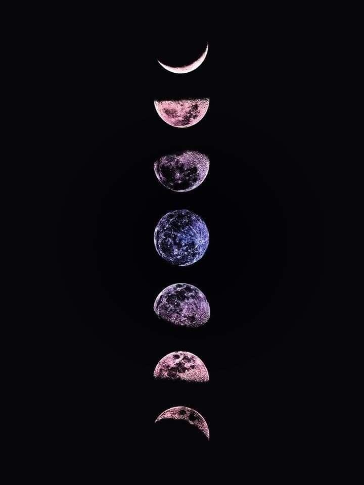 Fases De La Luna En 2020 Fond D Ecran Telephone Fond D Ecran Colore Fond D Ecran Sombre Iphone