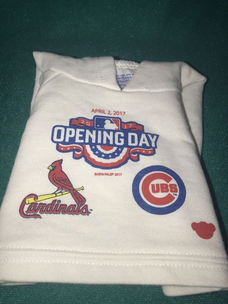 Build A Bear T-shirt 2017 Opening Day Chicago Cubs Vs St. Louis Cardinals  | eBay