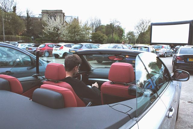 Lovely evening out at - ALLY PALLY LONDON - DRIVE IN CINEMA #london #cinema #drivein