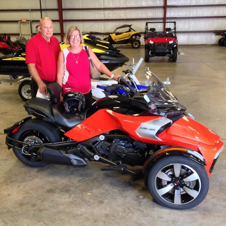 Thanks to Tommy and Margaret Fortal from Houston MS for getting a 2016 Can Am Spyder F3-S. #HattiesburgCycles