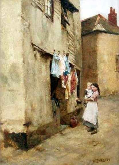 Newlyn and Staithes School of Painters: Walter Langley - Newlyn Scene