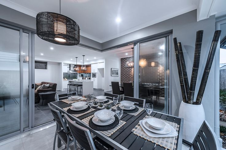 #Alfresco #decorating #idea's from #Ausbuild's Allendale display #home. An entertainers dream, this proctected #alfresco #dining area is perfect all year round.