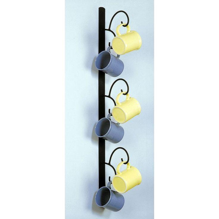 Wall Mount Mug : Wall mounted mug rack vertical organization storage