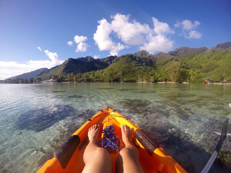 kayak in paradise