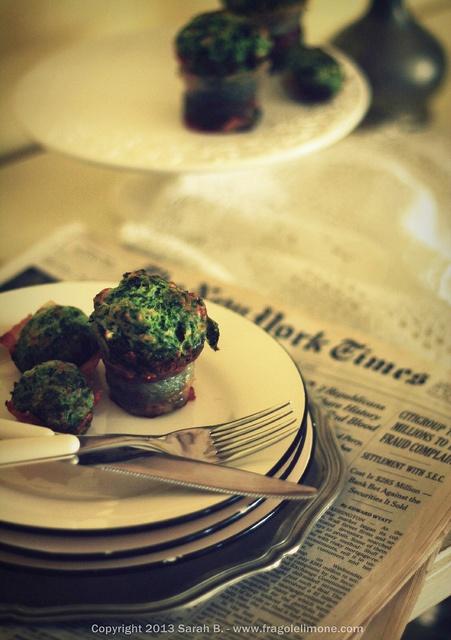 Tortini spinaci e bacon - Sarah Brunella photography