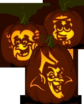 Loads of good pumpkin carving ideas on this site.