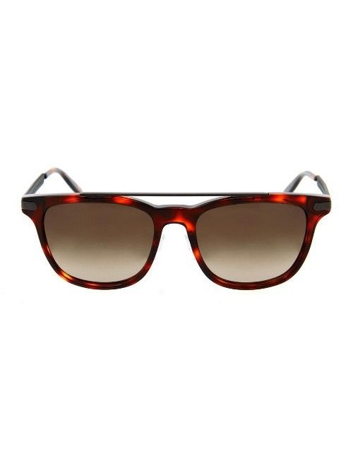 TORTOISESHELL SQUARE-FRAMED SUNGLASSES BOTTEGA VENETA