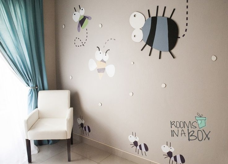 It's a bugs life! Order:  hello@roomsinabox.co.za. We are based in Pretoria, South Africa. DIY Decor Boxes for your nursery or toddler/ children rooms. www.roomsinabox.co.z