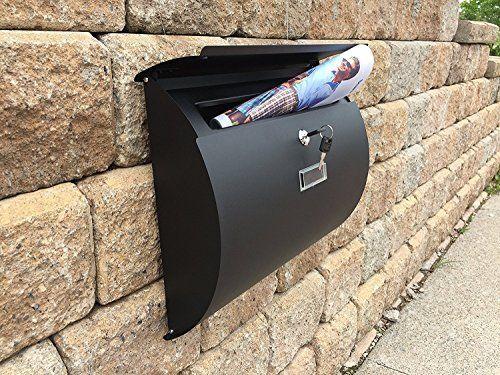 MPB1402B Semi Curve Lockable Mailboxes Painted Black Stai