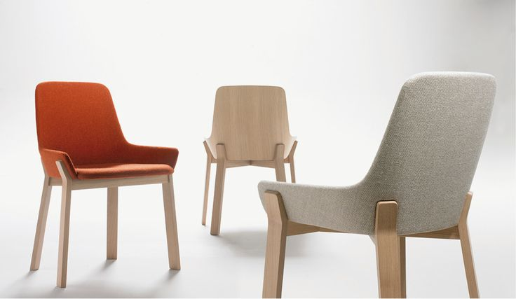 Alki Koila Chair Fabric and Oak by Jean Louis Iratzoki