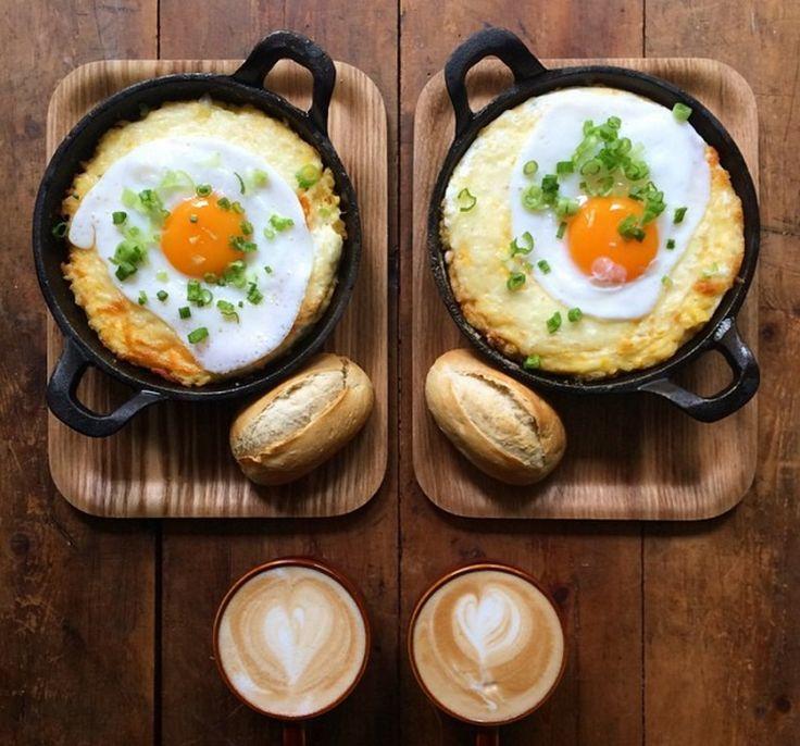 Café da manhã simétrico