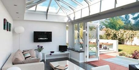 Steel Frame Contemporary Kitchen Living Room Extension