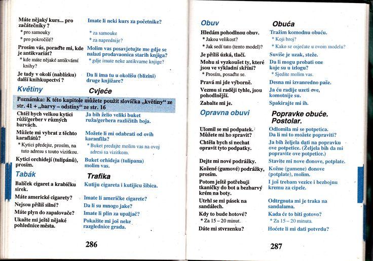 Květiny, tabák, obuv. Chorvatština - studijní materiály, konverzace