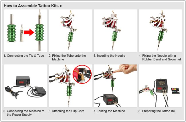 bisnis rumahan SFI: Tattoo Accessories Kit 100 Ink Cup 10 Apron 5 Ointment 5 Practice Skins