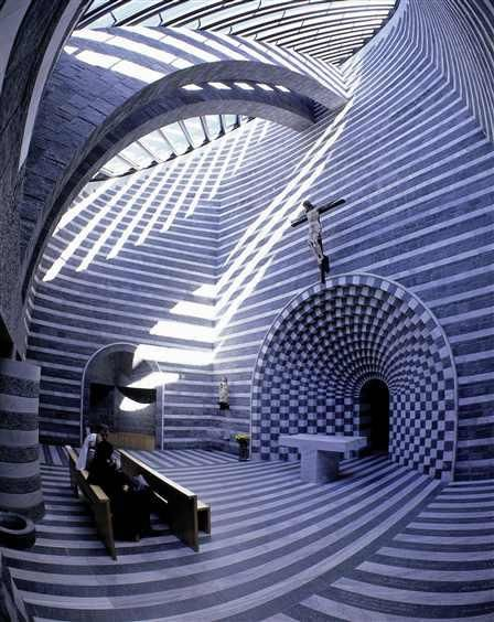 // Church of San Giovanni Battista in Mogno by Mario Botta