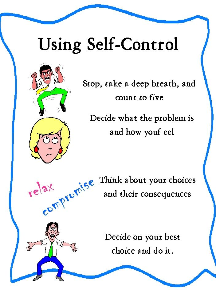 Let's train and train and train the kids until they turn this into a habit! Self Control options