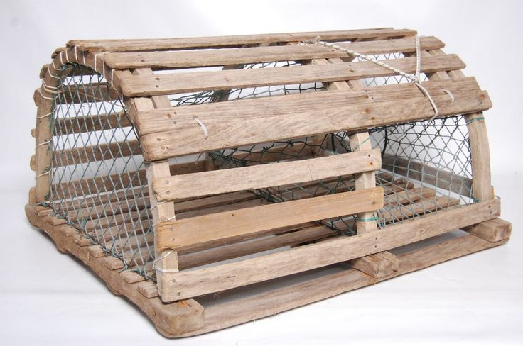 Lobster Trap Authentic Wooden Full Size Half Round Vintage Nautical 30x24x16 #NA