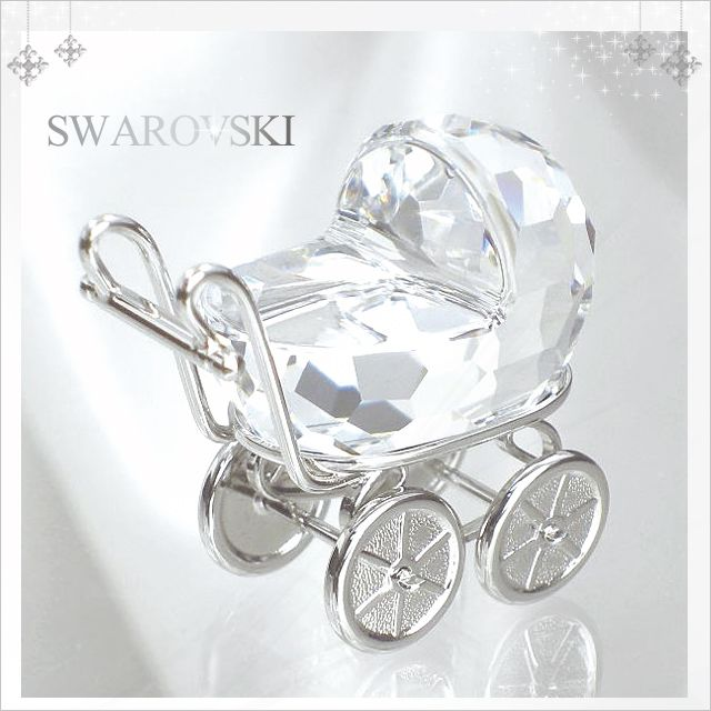 Brooch Boutique Silver Plated Crystal and AB Crystal Pram Brooch Baby's Pram Carriage vV6ld