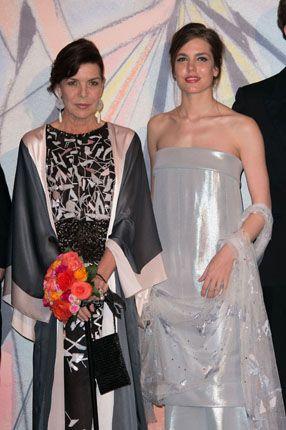 La principessa Carolina di Monaco e sua figlia Charlotte Casiraghi al Ballo della Rosa 2014
