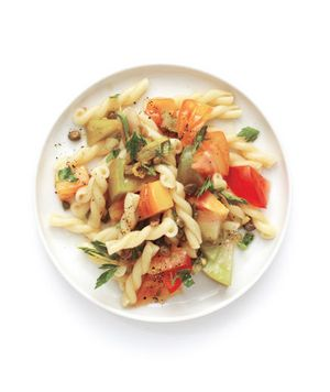 Mediterranean Pasta Salad RecipePasta Salad Recipes, Side Dishes, Cooking Recipe, Anchovy, Mediterranean Pasta Salad, Simple Recipe, Artistry Salad, Food Recipe, Heirloom Tomatoes