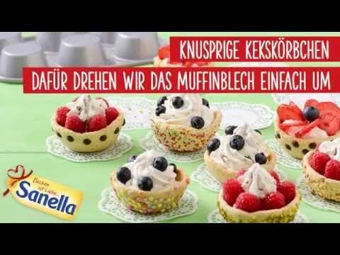 Kekskörbchen mit Schokokusscreme und Früchten Rezept | Sanella