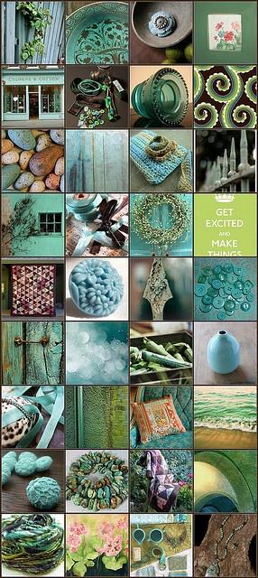 Aqua,blue & green