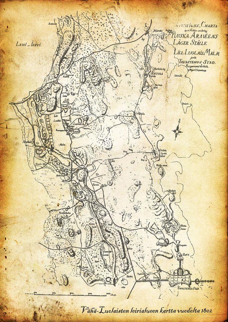 Vanha kartta Hämeestä