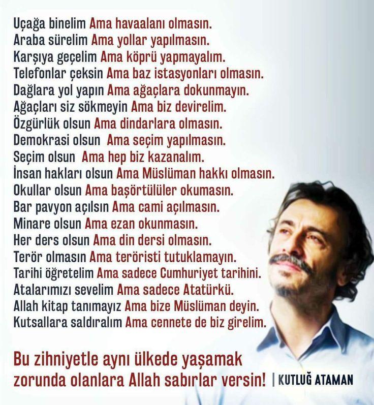 Kutluğ Ataman halimizi özetlemiş.. #farkındalık