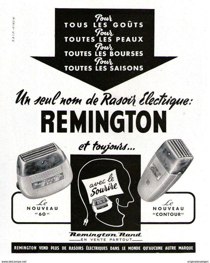 Original-Anzeige / Publicité 1955 - (en Français)  REMINGTON / RASOIR ELECTRIQUE - Ca. 220 X 280 Mm - Werbung