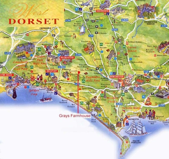Places To Visit North East Coast England: Map Of Dorset, My Original Home.