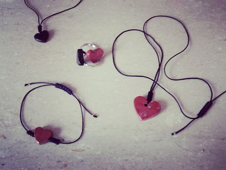 Hearts...Marble Hearts..Marble Jewelry!