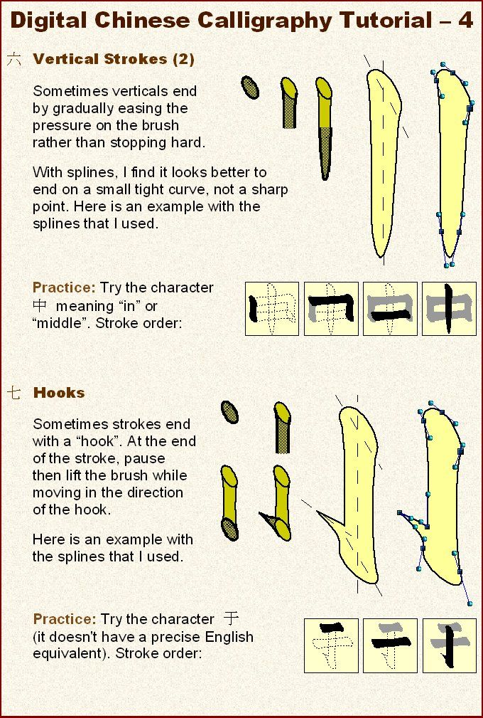 Chinese Calligraphy Tutorial 4 by Electric-Raichu on DeviantArt