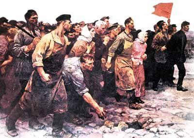El término Revolución rusa agrupa todos los sucesos que condujeron al derrocamiento del régimen zarista y a la instauración preparada de otro, leninista, a continuación, entre febrero y octubre de 1917, que llevó a la creación de la República Socialista Federativa Soviética de Rusia.