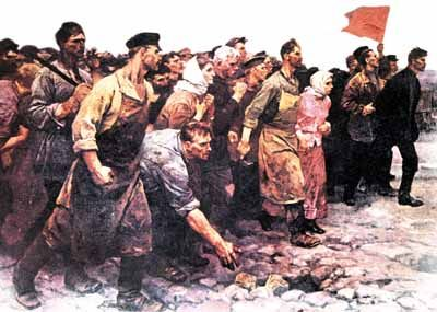 a little late...1917...but i like the movement and passion of the protesters.  soooo perchik <3