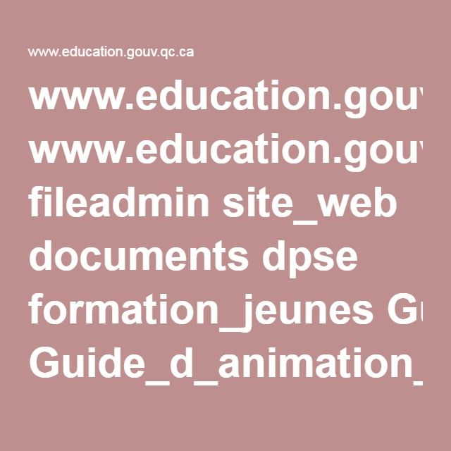 www.education.gouv.qc.ca fileadmin site_web documents dpse formation_jeunes Guide_d_animation_8_-_le_jeu_selon_Madeleine_Baillagergeon.pdf