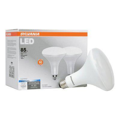 Sylvania 13 Watt 85 Watt Equivalent Br40 Led Dimmable Light Bulb Daylight 5000k E26 Medium Standard Base Dimmable Light Bulbs Incandescent Light Bulb