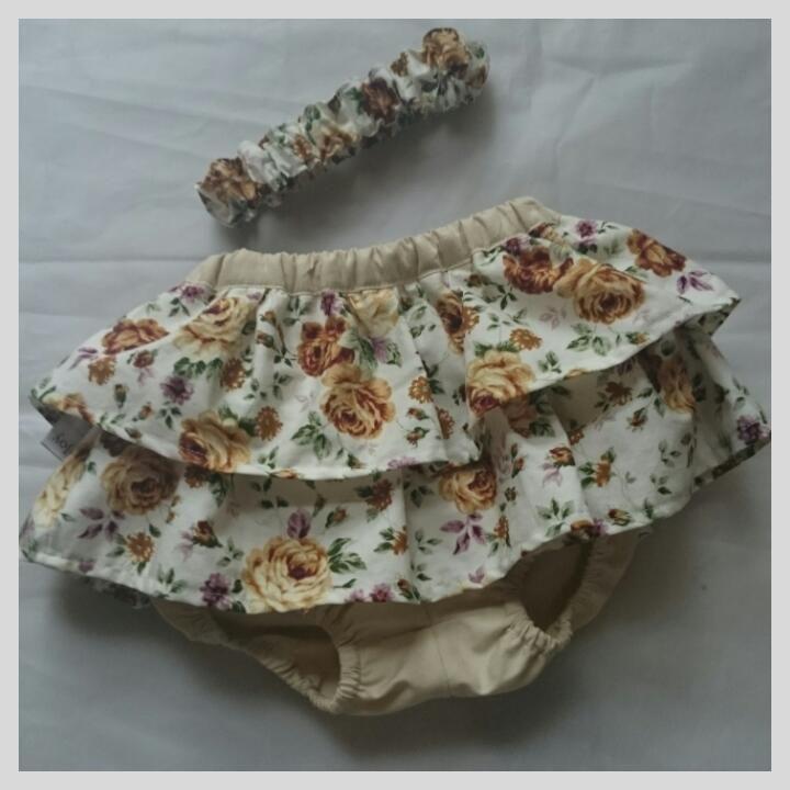 Floral Bloomer and Headband set | Lil Joy